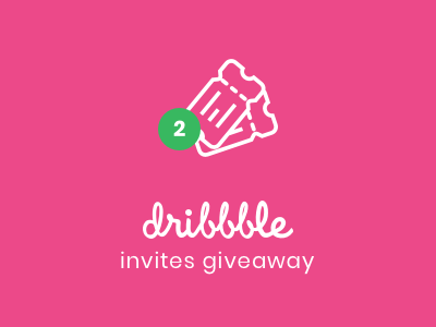 Grab your dribbble Invite giveway invite