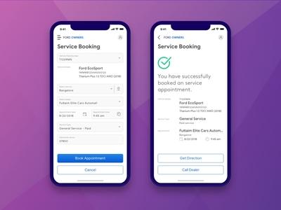 Service Appointment mobile app mobile ui redesignui mobileapp mobileui uiux ui