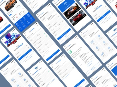 Fordowners App inspiration modernui newui redesign ownersapp ford mobile app ux uiux ui