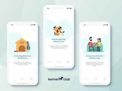 Kennel Club - Onboarding vector design dailychallenge uichallenge userinterface illustration uiinspiration uidaily sketch uidesign uidesignpatterns uitrends interfacedesign visualdesign sketchapp dailyui ui