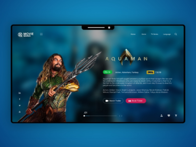 MovieMania Modern Website ux uidaily mobile ui sketch userinterface uiinspiration interfacedesign uidesignpatterns design dailychallenge uichallenge uitrends uidesign visualdesign sketchapp dailyui ui