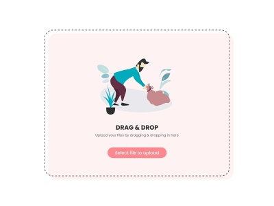 Drag Drop - Document upload vector uitrends illustration ui dailyui