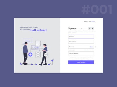 Designing a better signup page