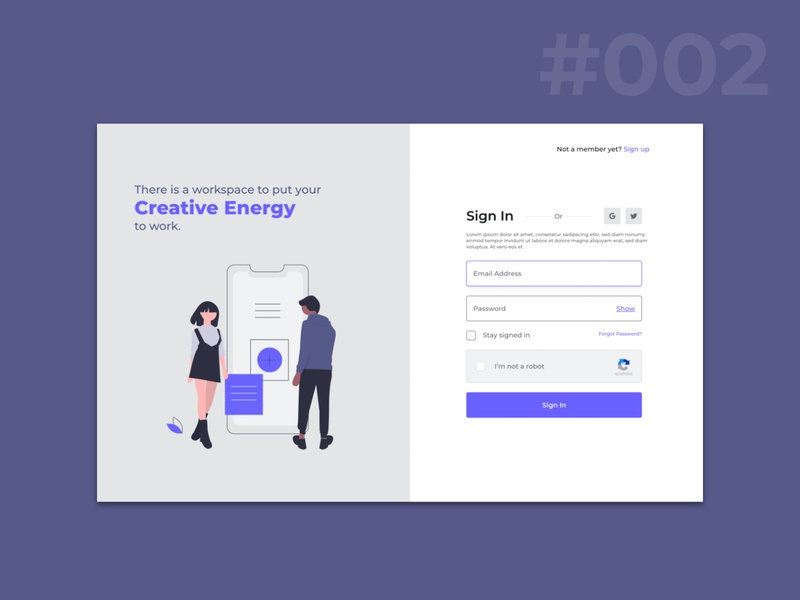 Designing a better Sign In page web design webpage webuiuxdesign uichallenge uidaily visualdesign dailychallenge uidesign uidesignpatterns interfacedesign dailyui ui