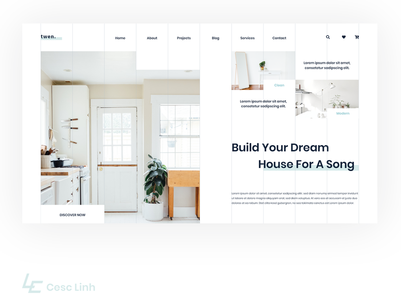 Furniture | Interior Website by Cesc Linh on Dribbble