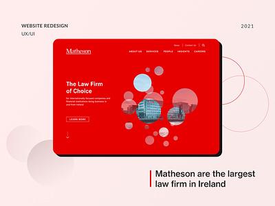 Matheson website redesign ui ireland lawyer law