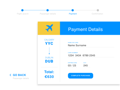 Daily UI 02 — Credit Card Checkout