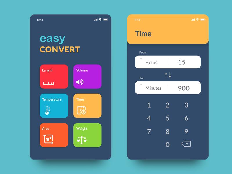 Daily UI 04 — Calculator app converter phone app uiux ui phone calculator calculator ui dailyui calculator