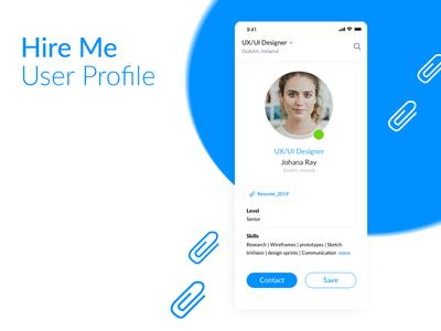 Daily UI 06 — User Profile