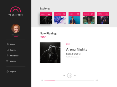 Daily UI 09 — Music player