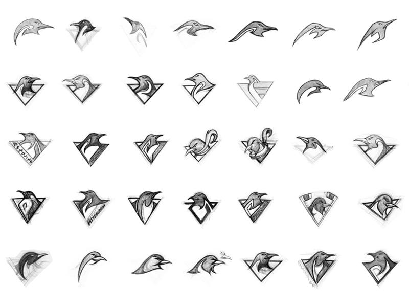 Qbrehler penguins sketches