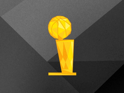 NBA O'Brien Trophy polygon illustration cavs warriors curry lebron finals obrien trophy nba