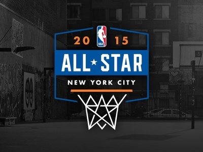 NBA NYC AS15 Primary concept primary dribbler 2015 nets net star all-star nba logo