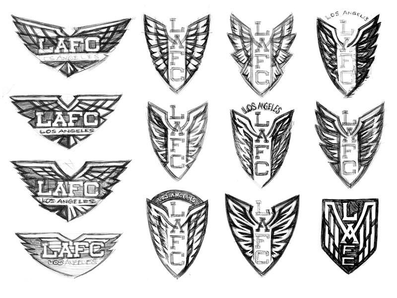 LAFC Crest Concept Sketches club football city los angeles identity sports sketches logo crest soccer mls lafc
