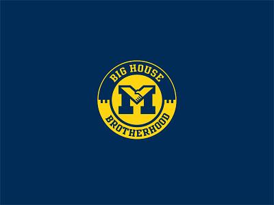 Big House Brotherhood hand shake hands logo brotherhood u of m university wolverines michigan