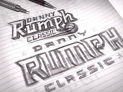 Danny Rumph Classic Sketch logo tournament classic danny rumph typography basketball sketch