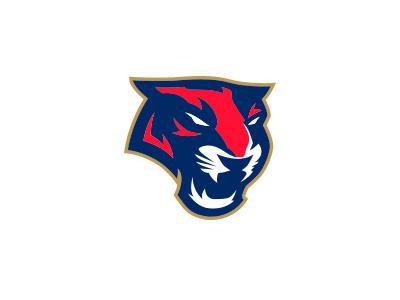 Florida Panthers Concept state shape panther mascot sports hockey panthers florida logo nhl