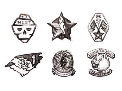 All-Star Concept Sketches as17 tire skull bbq patches basketball sports logo sketch charlotte all-star nba