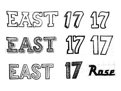 NBA AS17 Charlotte sketch east conference western eastern process basketball sports logo charlotte all-star nba