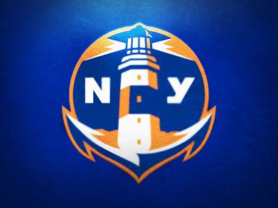New York Islanders Logo Concept nhl identity sports logo new york islanders hockey anchor lighthouse