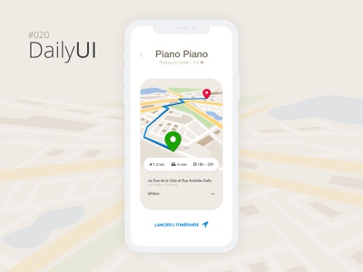#020 Daily UI Challenge locationtracker 020 daily ui 020 mobile app design app design ui design design daily ui challenge daily ui daily 100 challenge paris