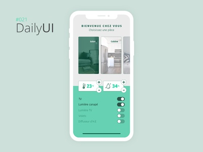 #021 Daily UI Challenge - Home Monitoring Dashboard
