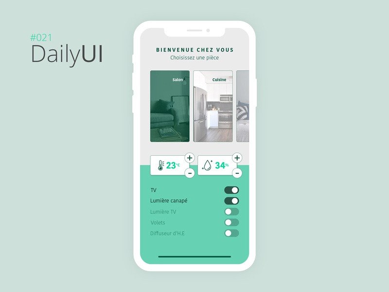 #021 Daily UI Challenge - Home Monitoring Dashboard home monitoring dashboard dashboard 021 daily ui 021 app design mobile app design ui design design daily ui challenge daily ui daily 100 challenge paris
