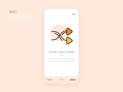 #023 Daily UI Challenge - Onboarding