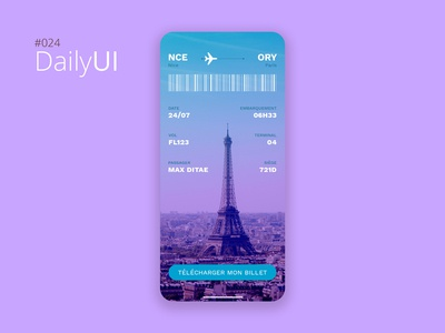 #024 Daily UI Challenge - Boarding Pass