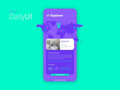 #029 Daily UI Challenge - Map