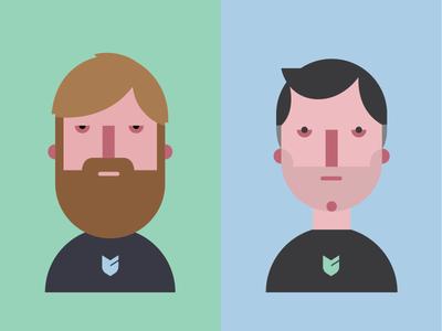 Big Cartel Founders big cartel portrait icons buddy comedy