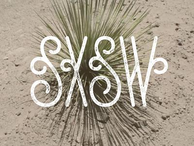 SXSW Type lettering sxsw big cartel curly