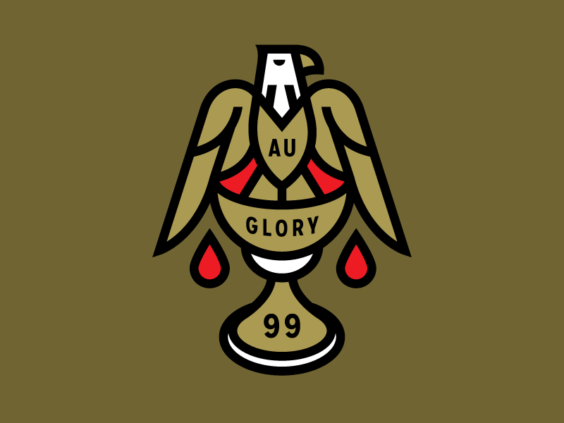 Holy Grail space gold beeteeth eagle illustration