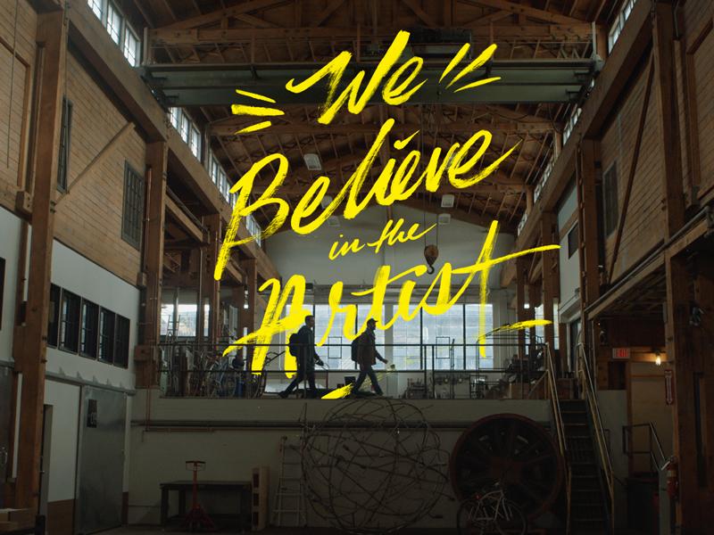 We Believe big cartel lettering brush beeteeth