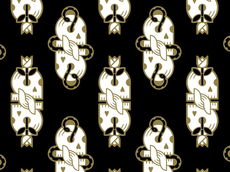 Skullies beeteeth kindness snakes roses skulls