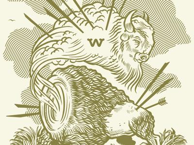 N. American Ghost Bison beeteeth illustration west salt lake city ghost bison