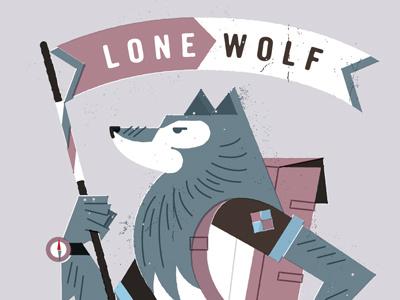 Lone Wolf wander beeteeth salt lake city illustration stuff