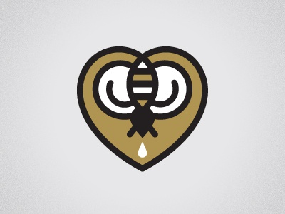 Quit it with the bees, Dan bees dan heart icon illustration beeteeth salt lake city