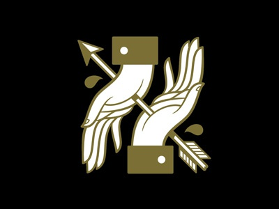 Blood Brothers hands icon arrow beeteeth salt lake city cufflinks