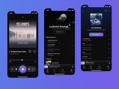 Music App Concept music app music player player mobile app dark theme ux ui