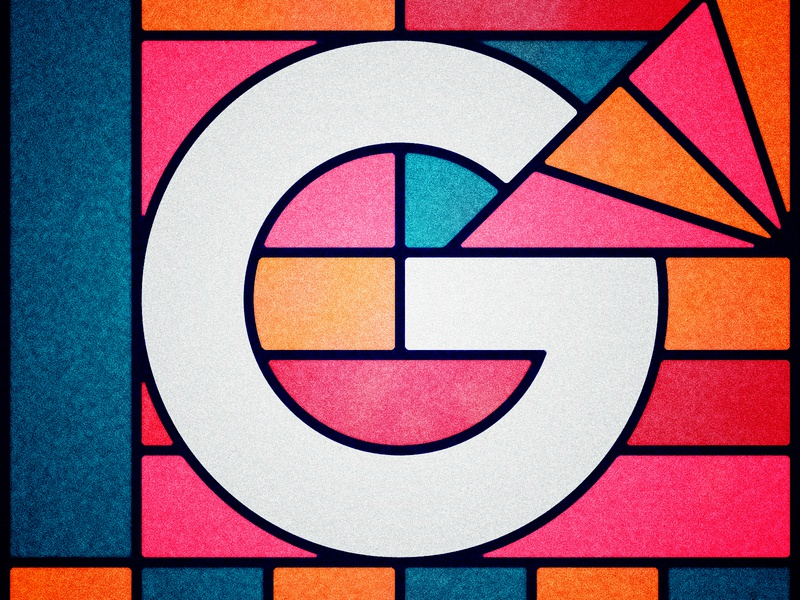 36 Days of Type - G distressed vintage lettering type illustration typography geometric stained glass 36 days of type 36daysoftype 36daysoftype07 36days