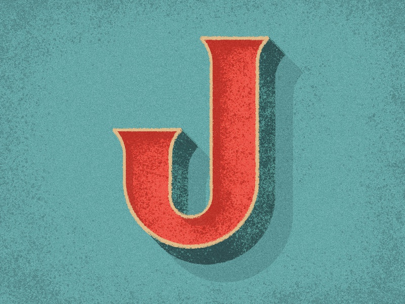 36 Days of Type - J serif distressed vintage lettering type illustration typography 36 days of type 36daysoftype07 36daysoftype 36days