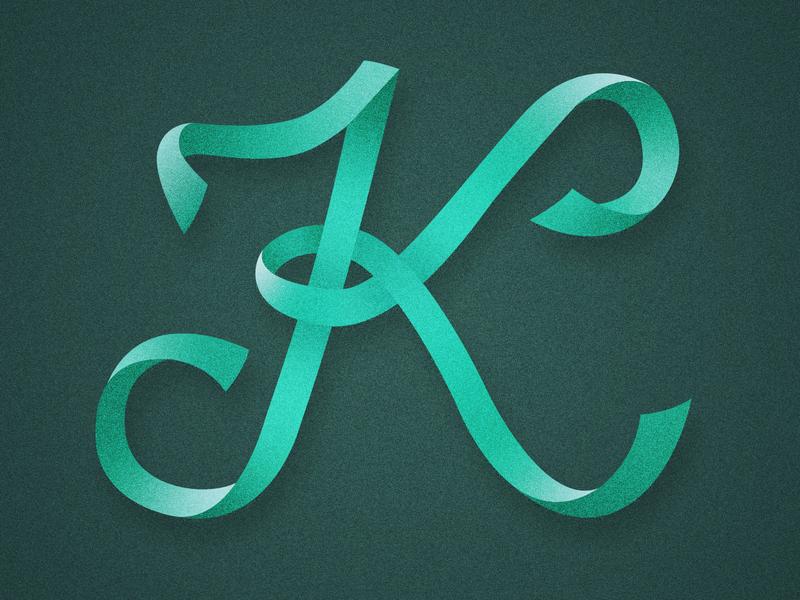 36 Days of Type - K handlettering script ribbon distressed vintage lettering type illustration typography 36 days of type 36daysoftype07 36daysoftype 36days