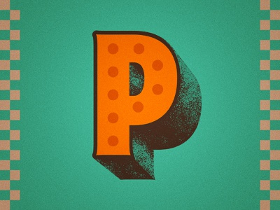 36 Days of Type - P type typography noise texture vintage distressed lettering illustration 36 days of type 36daysoftype 36days 36daysoftype07 pizza noise