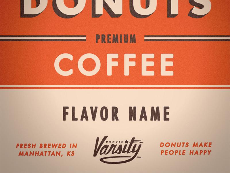 Varsity Coffee Label 2 typography type vintage retro