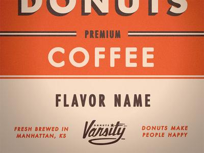 Varsity Coffee Label 2