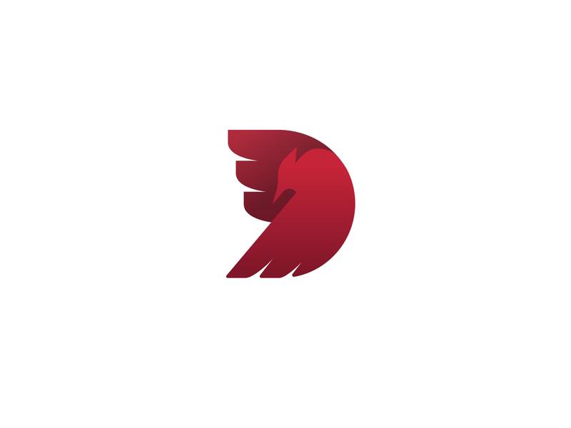 Bir-D flight wing logo letter cardinal bird