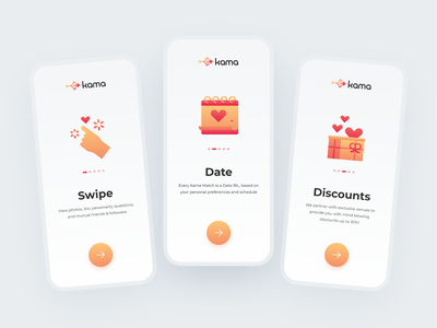 Onboarding Flow for Dating Mobile App yellow orange red dating trendy design application product design user experience design onboarding ui splash ios love date dating app icons onboarding screens uiux mobile app design user interface design