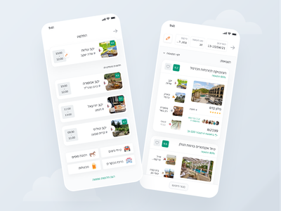 Magication App - More Screens product design application uiux mobile app design user interface design route restaurants attractions hotels booking trip planner travel app trip vacation artificial intelligence
