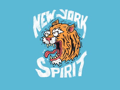 New York Spirit branding editorial lettering editorial illustration animal illustration hand lettering illustration typography